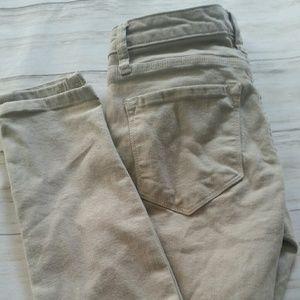 Baldwin rivington Midrise Cream Jeans size 25